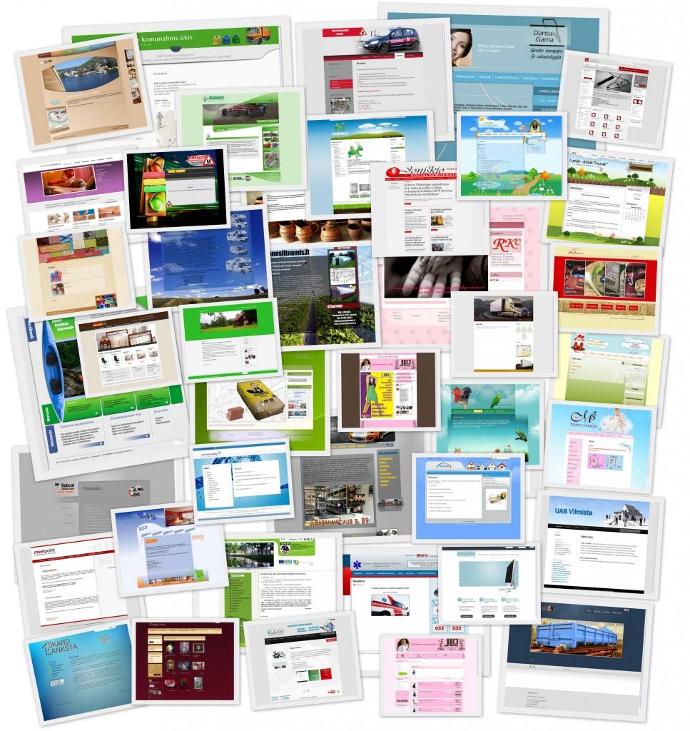 interneto svetainių pavyzdžiai